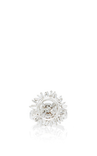 Medium suzanne kalan silver 18k white gold white topaz vitrine ring
