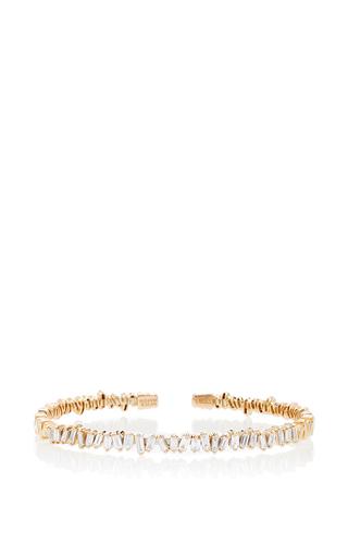 Medium suzanne kalan gold 18k yellow gold diamond baguette bangle