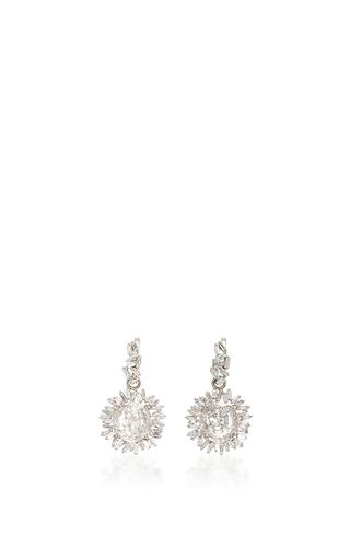 Medium suzanne kalan silver 18k white gold white diamond vitrine earrings