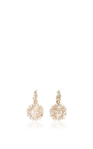 Medium suzanne kalan gold 18k yellow gold white diamond vitrine earrings