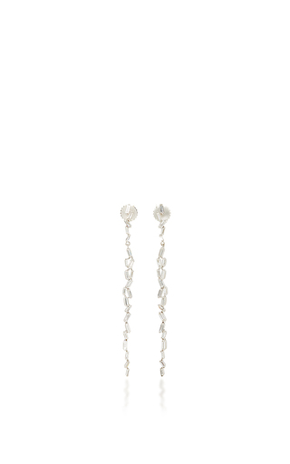 Medium suzanne kalan silver 18k white gold fireworks line earrings