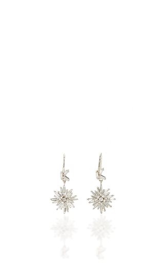 Medium suzanne kalan silver 18k white gold fireworks drop earrings