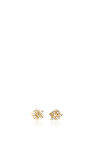 Medium suzanne kalan gold 18k yellow gold champagne diamond studs