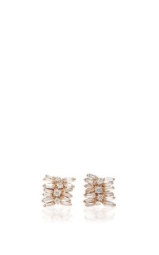Medium suzanne kalan rose gold 18k rose gold diamond stack studs