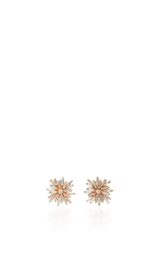 Medium suzanne kalan gold 18k yellow gold diamond baguette fireworks studs