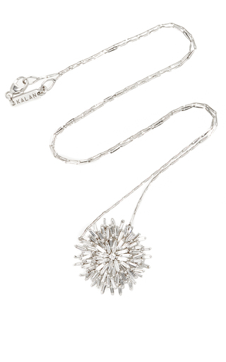 Medium suzanne kalan silver 18k white gold diamond fireworks necklace