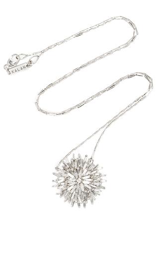 Medium suzanne kalan silver 18k white gold diamond fireworks necklace