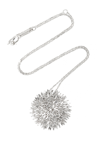 Medium suzanne kalan silver 18k white gold diamond baguette fireworks pendant necklace