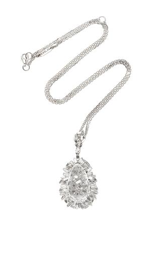 Medium suzanne kalan silver 18k white gold pear topaz pendant