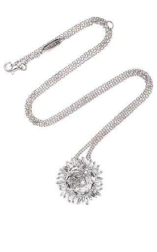 Medium suzanne kalan silver 18k white gold white topaz round pendant