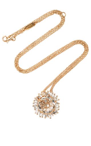Medium suzanne kalan gold 18k yellow gold white topaz round pendant