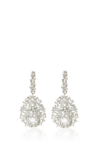 Medium suzanne kalan silver 18k white gold pear topaz vitrine earrings