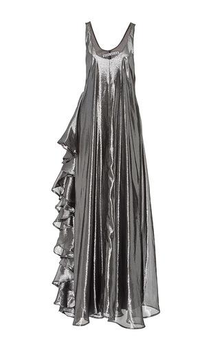 Medium viva aviva silver all day silver lame gown