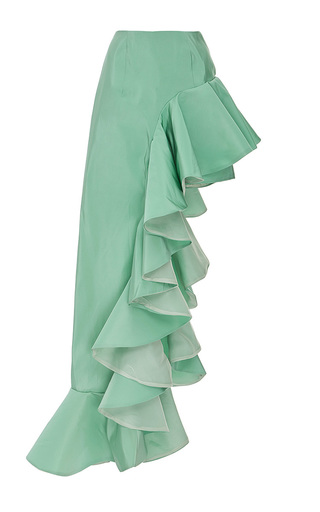 Medium viva aviva green ruffled ball gown skort