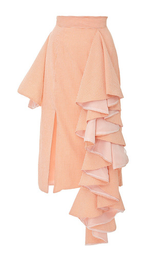 Medium viva aviva orange picnic party dramatic ruffle skirt