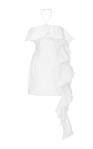 Medium viva aviva white continuous ruffled mini