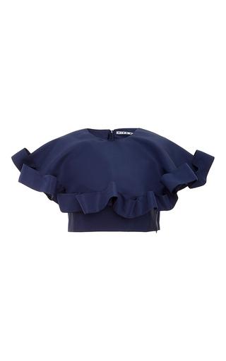 Medium viva aviva navy two piece fancy collar set