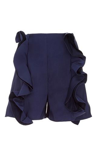 Medium viva aviva navy ruffliest shorts
