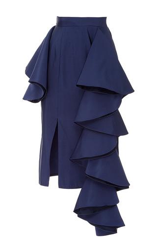 Medium viva aviva navy dramatic silk party skirt