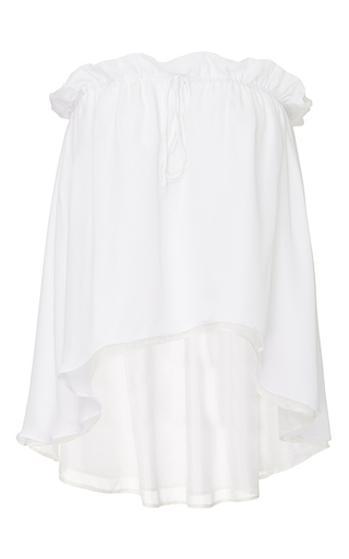 Medium viva aviva white drawstring convertible silk top skirt