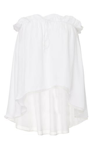 Medium viva aviva white drawstring convertible silk top skirt
