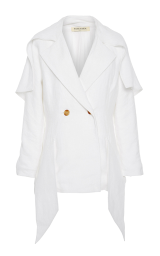 Medium tata naka white oversized collar tailored jacket