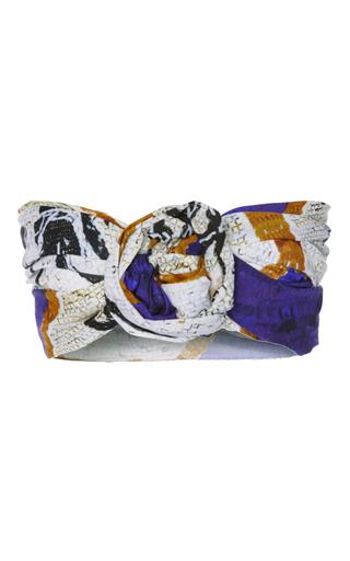 Medium tata naka print knotted print bandeau top