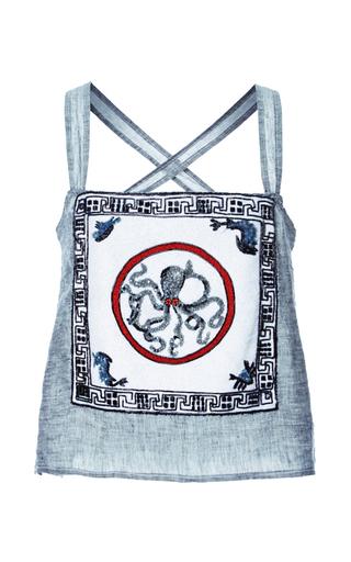 Medium tata naka light grey octopus embroidered camisole