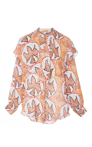 Medium tata naka print shirt with oversized collar