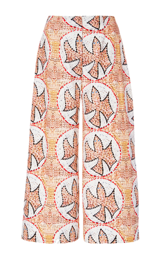 Medium tata naka print wide leg cropped trousers