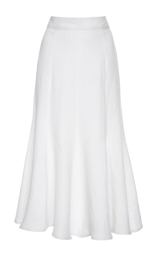 Medium tata naka white high waist godet skirt