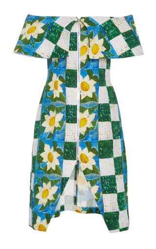Medium tata naka multi off the shoulder curve dress