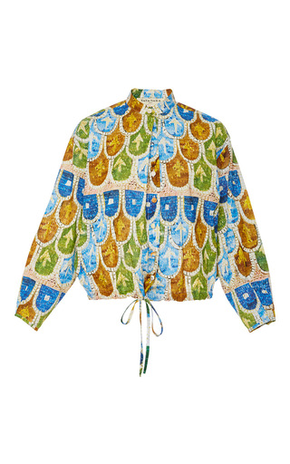 Medium tata naka print printed long sleeve drawstring shirt