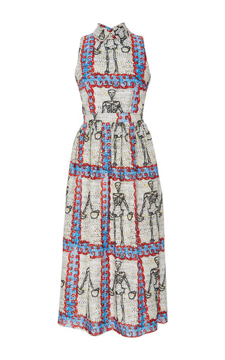 Medium tata naka print sleeveless peter pan collar dress