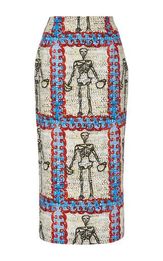 Medium tata naka print high waist midi length pencil skirt