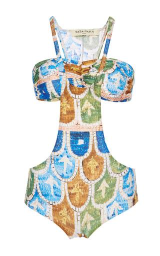 Medium tata naka print two piece swimming costume