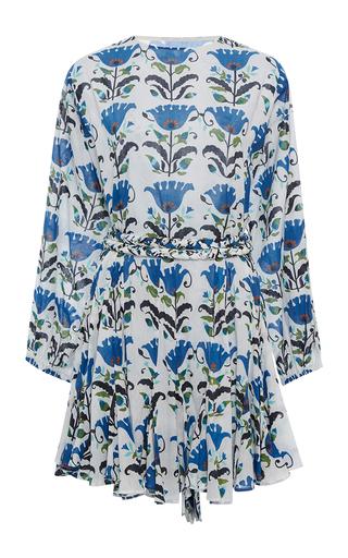 Medium rhode resort floral ella belted long sleeve mini dress