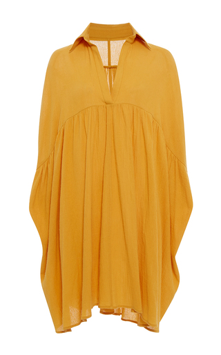 Medium rhode resort yellow leo mini shirt dress