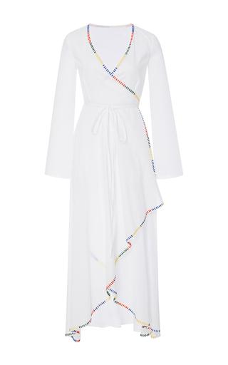 Medium rhode resort white arya long sleeve wrap dress