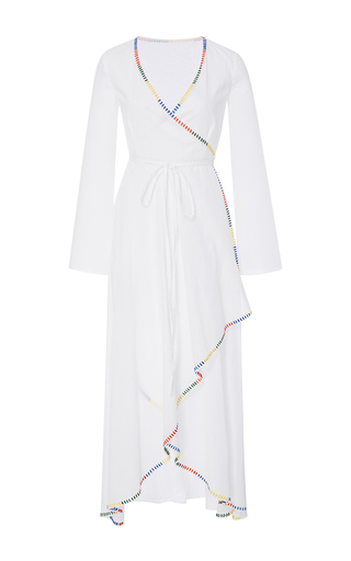 Medium rhode resort white arya long sleeve wrap dress