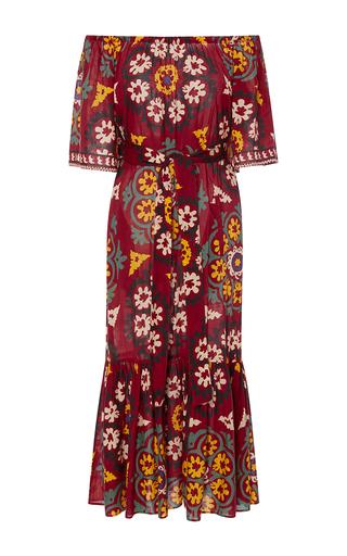 Medium rhode resort multi jay off the shoulder midi dress