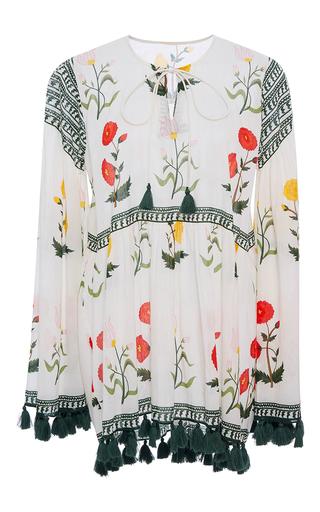Medium rhode resort floral tina floral tassel top