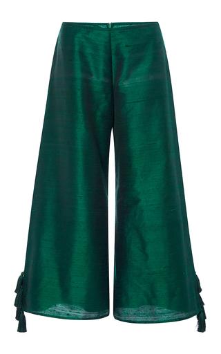 Medium rhode resort green lotta wide leg tassel pants