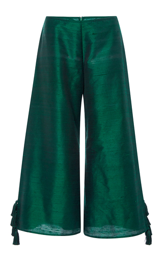 Medium rhode resort green lotta wide leg tassel pants