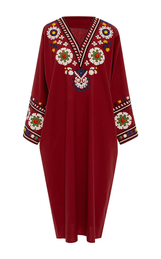 Medium rhode resort red luigi embroidered tunic
