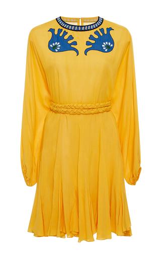 Medium rhode resort yellow ella embroidered belted dress