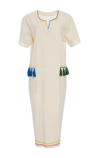 Medium rhode resort white aviv tassel pocket dress