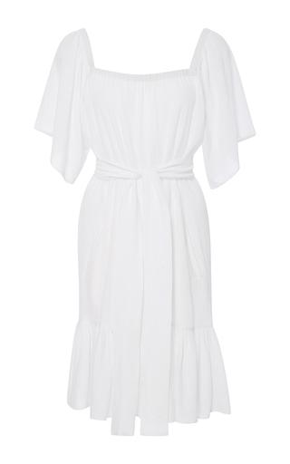 Medium rhode resort white mira off the shoulder ruffle dress