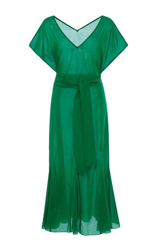 Medium rhode resort green elsa belted midi dress