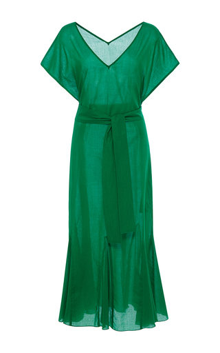 Medium rhode resort green elsa belted midi dress